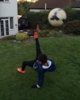Bicycle kick!