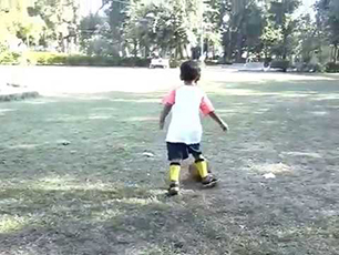 3 Year Old Little Prithvi $ Amazing Footballe