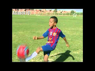 Great dribbling from an 8 year old