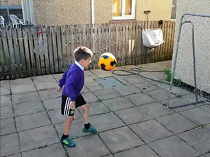 7 year old with tekkers