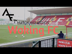 Playing at Woking FC