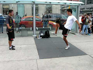 Some sick soccer skills down @ Dundas Square