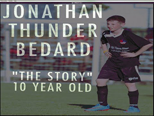 Jonathan Thunder Bedard 10 year old