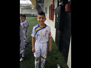 Areez Vellani 9 Year old Striker