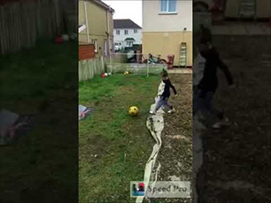 6 year old using a Football Flick urban