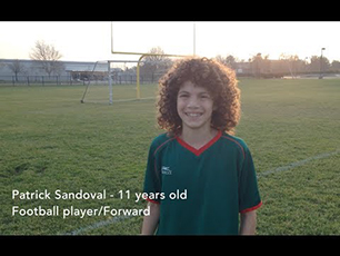 11 years old Football Soccer player - Free Kick practice