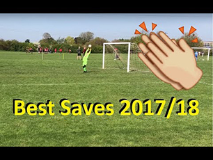 Best Saves from 8 yr old Goalkeeper 2017 18 Season