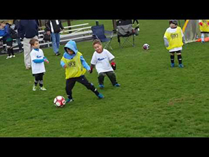 5 year old soccer star scores 1st of 6 goals in U6 game