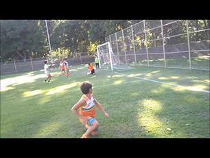 The  Amazing 9 year old Brazilian soccer goalkeeper! Bernardo Liberato in a training day.