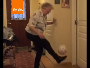 90 year old grandmother with Tekkers