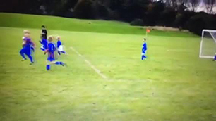 6 year old Brandon Wust's Free-kick  -  Bette