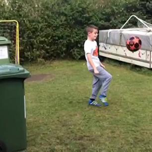 Back garden football