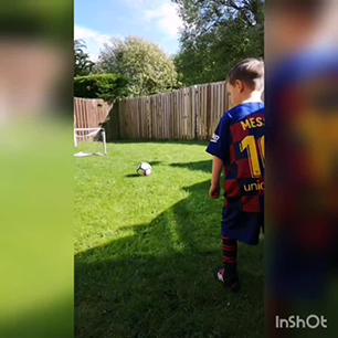 'Mini Messi' Free kick
