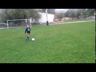 Daniel Barna 7 years old training