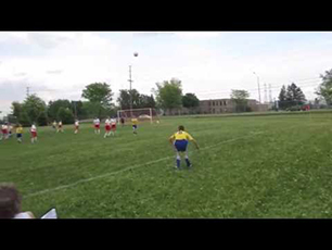 12 Year Old Girl - Amazing Soccer Flip Throw-